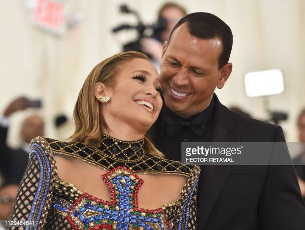 Jennifer Lopez and Alex Rodriguez arrive for the 2018 Met Gala on May 7 at the Metropolitan Museum of Art in New York Singing superstar Jennifer...