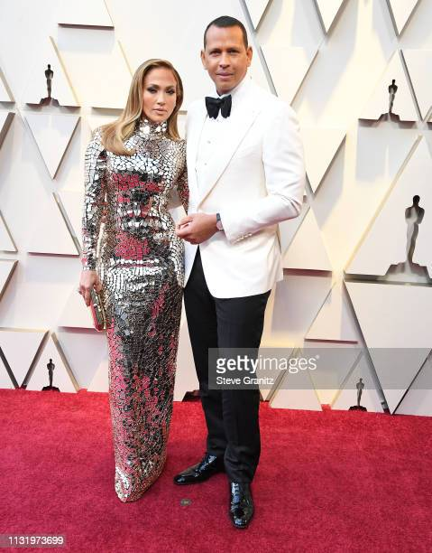 Jennifer Lopez and Alex Rodriguez arrives at the 91st Annual Academy Awards at Hollywood and Highland on February 24 2019 in Hollywood California