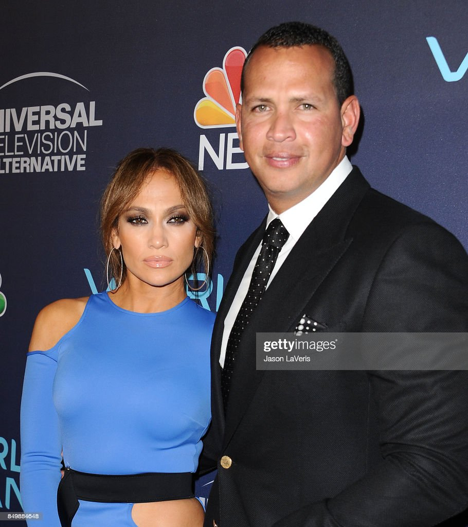 Jennifer Lopez and Alex Rodriguez attend NBC's 'World of Dance' celebration at Delilah on September 19, 2017 in West Hollywood, California.