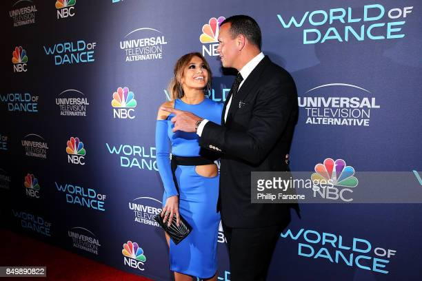 """Jennifer Lopez and Alex Rodriguez attend NBC's """"World of Dance"""" celebration at Delilah on September 19, 2017 in West Hollywood, California."""