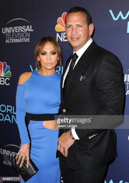 Jennifer Lopez and Alex Rodriguez attend NBC's World of Dance celebration at Delilah on September 19 2017 in West Hollywood California