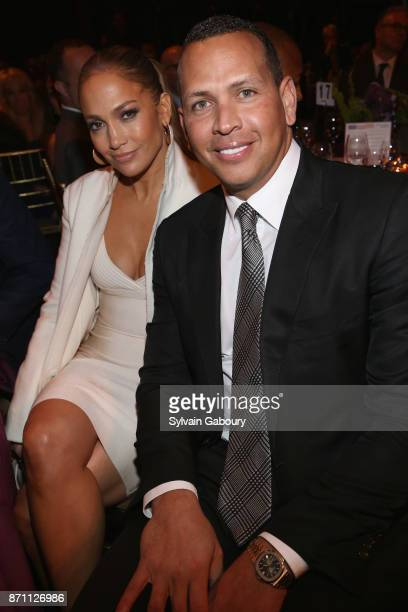 Jennifer Lopez and Alex Rodriguez attend Prostate Cancer Foundation Presents the 2017 New York Dinner on November 6 2017 in New York City