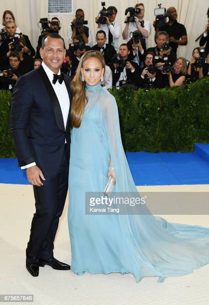 Jennifer Lopez and Alex Rodriguez attend 'Rei Kawakubo/Comme des Garcons Art Of The InBetween' Costume Institute Gala at Metropolitan Museum of Art...