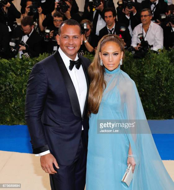 Jennifer Lopez and Alex Rodriguez attend 'Rei Kawakubo/Comme des GarçonsArt of the InBetween' Costume Institute Gala at Metropolitan Museum of Art on...