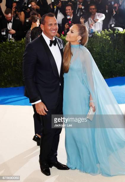 Jennifer Lopez and Alex Rodriguez attend 'Rei Kawakubo/Comme des GarçonsArt of the InBetween' Costume Institute Gala at Metropolitan Museum of Art on...