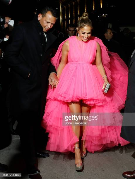 Jennifer Lopez and Alex Rodriguez attend Second Act World Premiere at Regal Union Square Theatre Stadium 14 on December 12 2018 in New York City