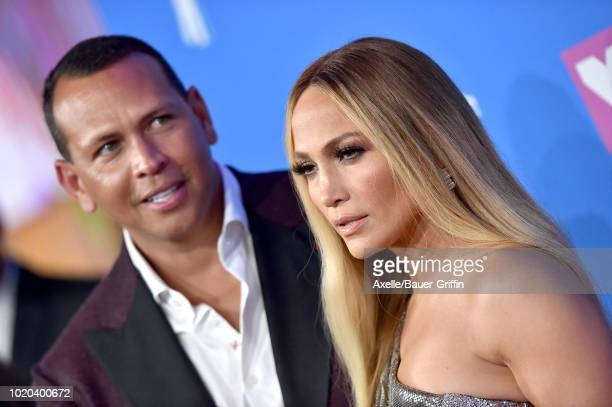 Jennifer Lopez and Alex Rodriguez attend the 2018 MTV Video Music Awards at Radio City Music Hall on August 20 2018 in New York City