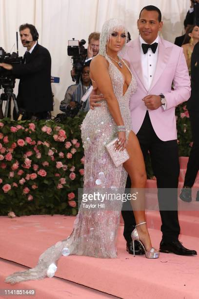 Jennifer Lopez and Alex Rodriguez attend the 2019 Met Gala celebrating Camp Notes on Fashion at The Metropolitan Museum of Art on May 6 2019 in New...