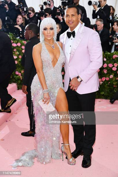 Jennifer Lopez and Alex Rodriguez attend The 2019 Met Gala Celebrating Camp Notes on Fashion at Metropolitan Museum of Art on May 06 2019 in New York...