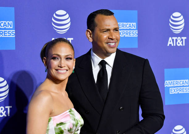 Jennifer Lopez and Alex Rodriguez attend the 31st Annual Palm Springs International Film Festival Film Awards Gala at Palm Springs Convention Center...