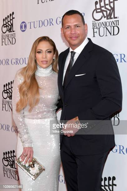 Jennifer Lopez and Alex Rodriguez attend the 33rd Annual Great Sports Legends Dinner which raised millions of dollars for the Buoniconti Fund to Cure...