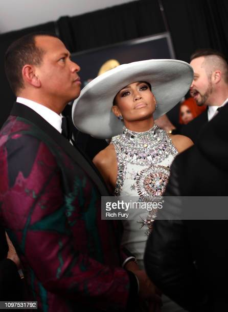 Jennifer Lopez and Alex Rodriguez attend the 61st Annual GRAMMY Awards at Staples Center on February 10 2019 in Los Angeles California