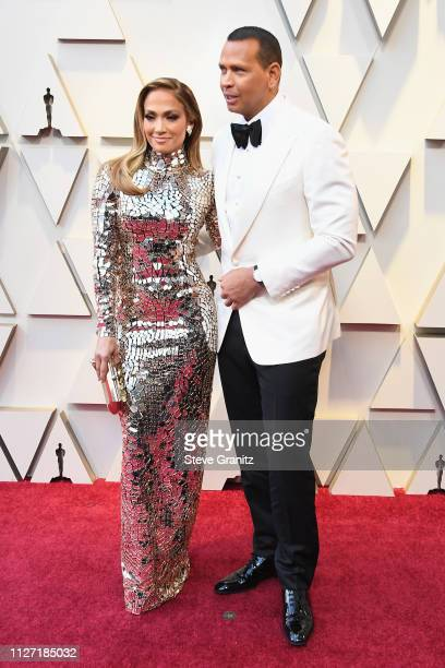 Jennifer Lopez and Alex Rodriguez attend the 91st Annual Academy Awards at Hollywood and Highland on February 24, 2019 in Hollywood, California.