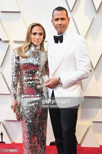Jennifer Lopez and Alex Rodriguez attend the 91st Annual Academy Awards at Hollywood and Highland on February 24 2019 in Hollywood California