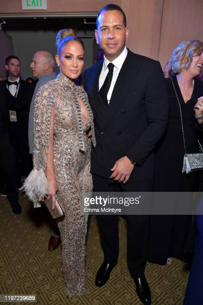 Jennifer Lopez and Alex Rodriguez attend the After Party for the 31st Annual Palm Springs International Film Festival Film Awards Gala at Palm...