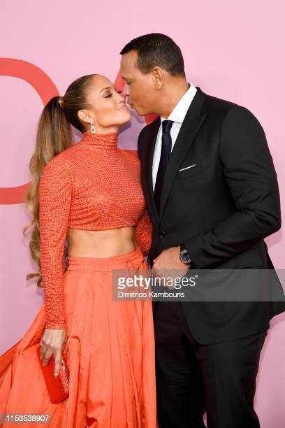 Jennifer Lopez and Alex Rodriguez attend the CFDA Fashion Awards at the Brooklyn Museum of Art on June 03 2019 in New York City