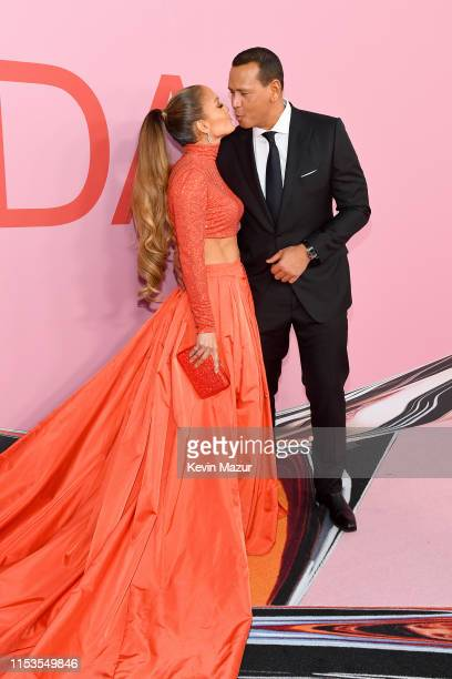 Jennifer Lopez and Alex Rodriguez attend the CFDA Fashion Awards at the Brooklyn Museum of Art on June 03, 2019 in New York City.