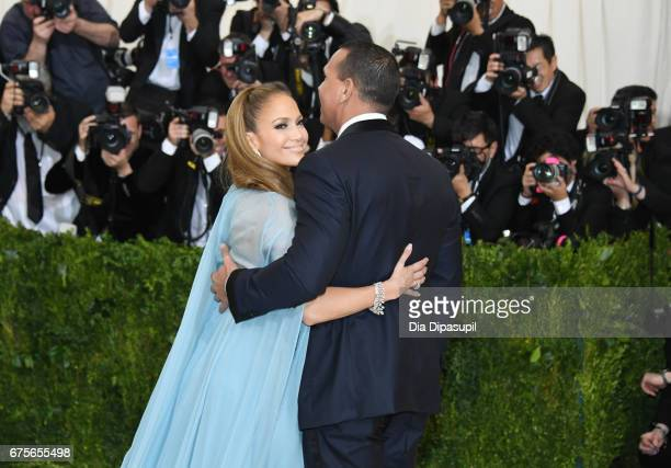 Jennifer Lopez and Alex Rodriguez attend the 'Rei Kawakubo/Comme des Garcons Art Of The InBetween' Costume Institute Gala at Metropolitan Museum of...