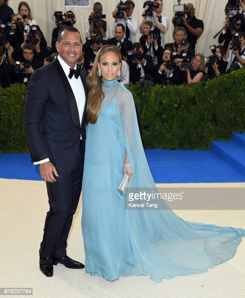 Jennifer Lopez and Alex Rodriguez attend the 'Rei Kawakubo/Comme des Garcons Art Of The InBetween' Costume Institute Gala at the Metropolitan Museum...