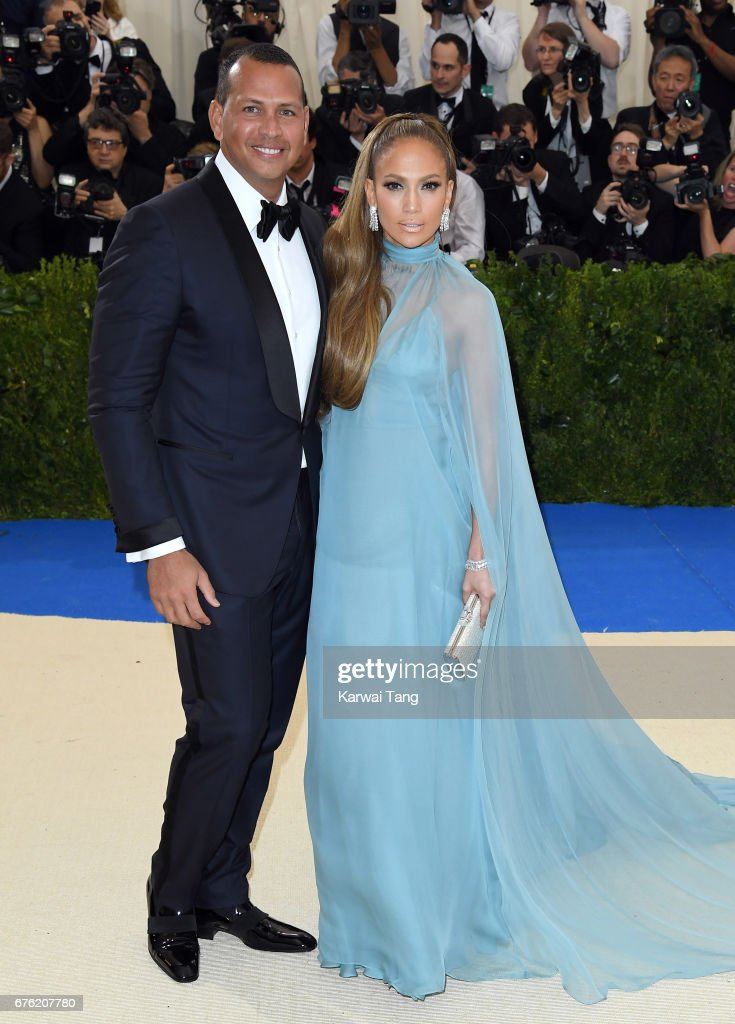 Jennifer Lopez and Alex Rodriguez attend the 'Rei Kawakubo/Comme des Garcons: Art Of The In-Between' Costume Institute Gala at the Metropolitan Museum of Art on May 1, 2017 in New York City.