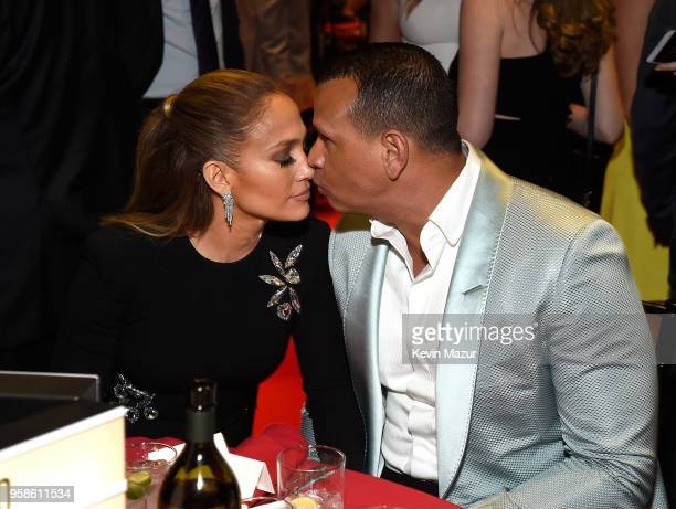 Jennifer Lopez and Alex Rodriguez attend The Robin Hood Foundation's 2018 benefit at Jacob Javitz Center on May 14 2018 in New York City