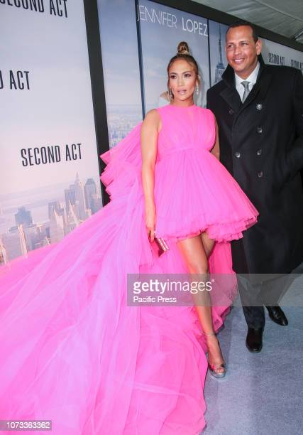 Jennifer Lopez and Alex Rodriguez attend the world premiere of 'Second Act' at Regal Union Square Theatre