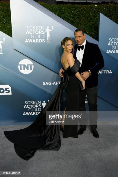 Jennifer Lopez and Alex Rodriguez attends the 26th Annual Screen ActorsGuild Awards at The Shrine Auditorium on January 19, 2020 in Los Angeles,...