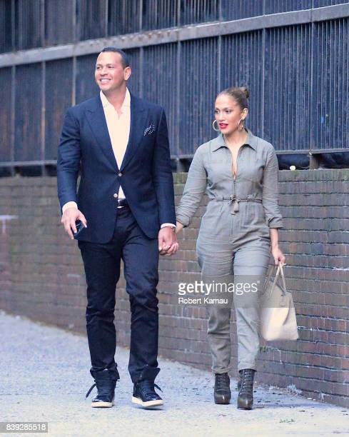 Jennifer Lopez and Alex Rodriguez seen out and about together in Manhattan on August 25 , 2017 in New York City.