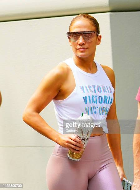 Jennifer Lopez and Alex Rodriguez work out together on July 12, 2019 in New York City.