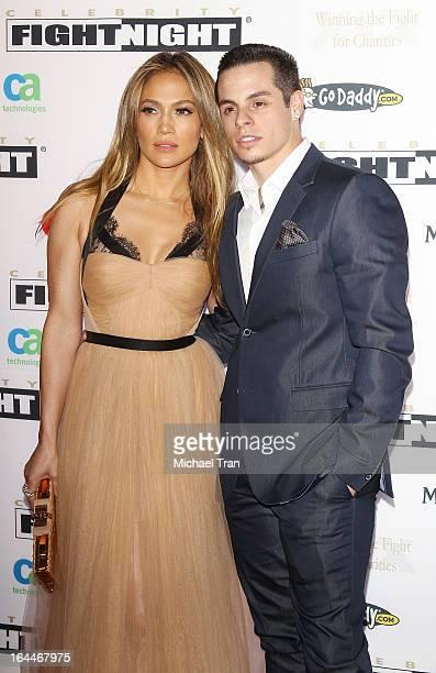Jennifer Lopez and Casper Smart arrive at Celebrity Fight Night XIX held at JW Marriott Desert Ridge Resort & Spa on March 23, 2013 in Phoenix,...