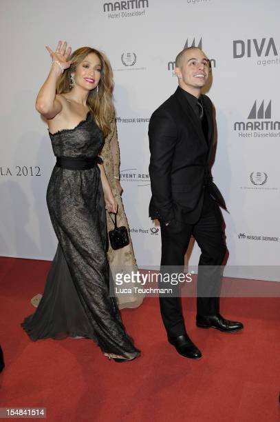 Jennifer Lopez and Casper Smart attend the 21th UNESCO charity gala at Maritim Hotel on October 27, 2012 in Duesseldorf, Germany.