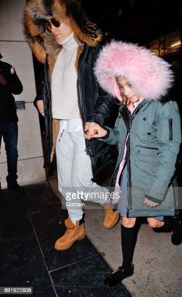 Jennifer Lopez and daughter Emme Anthony seen on December 13 2017 in New York City