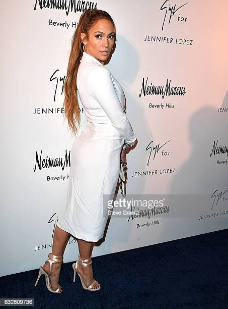 Jennifer Lopez And Giuseppe Zanotti Celebrate Their New Shoe Collaboration at Neiman Marcus on January 26 2017 in Beverly Hills California