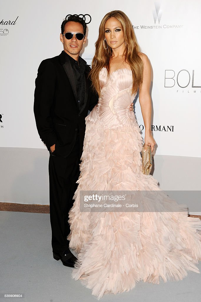 Jennifer Lopez and his husband Marc Anthony attend the '2010 amfAR's Cinema Against AIDS' Gala - Arrivals