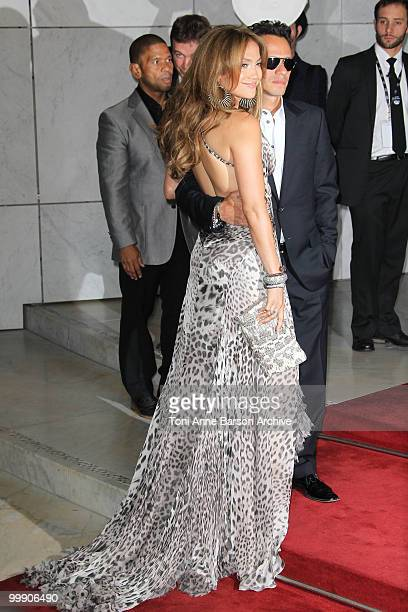 Jennifer Lopez and husband Marc Anthony attend the World Music Awards 2010 at the Sporting Club on May 18 2010 in Monte Carlo Monaco