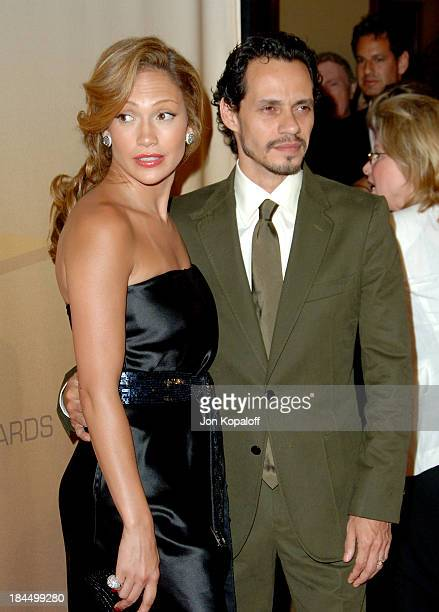 Jennifer Lopez and husband Marc Anthony during 2006 Women in Film Crystal Lucy Awards Arrivals at Century Plaza Hotel in Century City California...