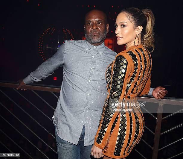 Jennifer Lopez and LA Reid attend Epic Summer Hosted By DJ Khaledat Marquee on August 28 2016 in New York City