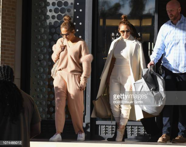 Jennifer Lopez and Leah Remini are seen on December 20, 2018 in Los Angeles, California.