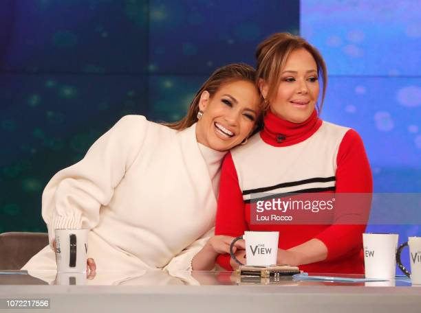 "Jennifer Lopez and Leah Remini are the guests today, Wednesday 12/12/18 on Walt Disney Television via Getty Images's ""The View."" ""The View"" airs..."