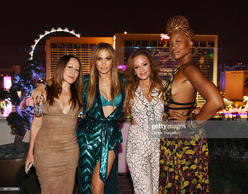 Jennifer Lopez and Leah Remini attend Jennifer Lopez's birthday at Nobu Villa Atop Nobu Hotel at Caesars Palace on July 24, 2016 in Las Vegas, Nevada.