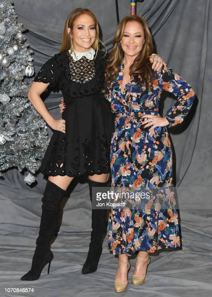 Jennifer Lopez and Leah Remini attend the photo call for STX Films' 'Second Act' at Four Seasons Hotel Los Angeles at Beverly Hills on December 9...