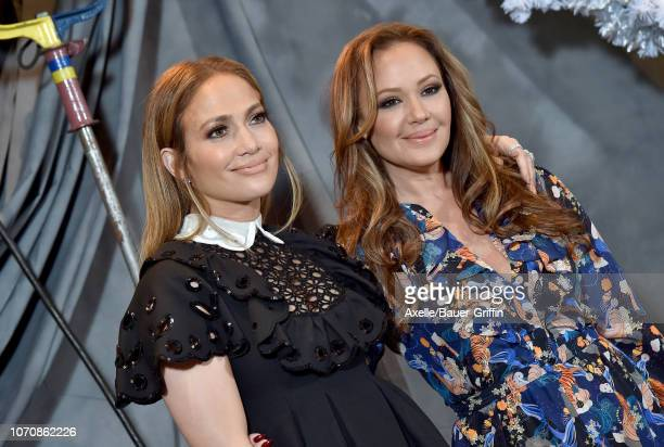 Jennifer Lopez and Leah Remini attend the photo call for STX Films' 'Second Act' at Four Seasons Hotel Los Angeles at Beverly Hills on December 09,...