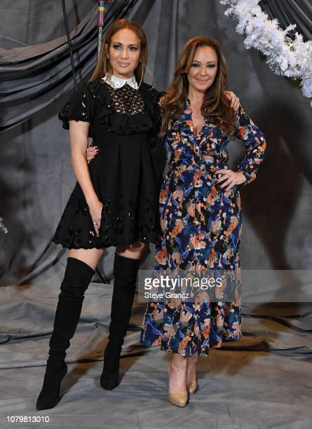 "Jennifer Lopez and Leah Remini attend the photo call For STX Films' ""Second Act"" at Four Seasons Hotel Los Angeles at Beverly Hills on December 09,..."