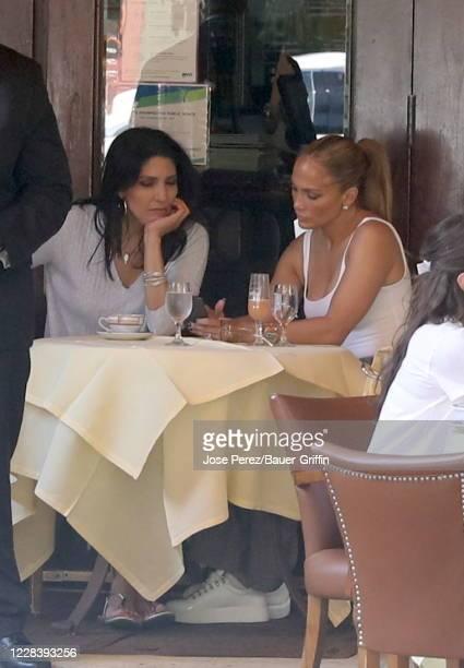 Jennifer Lopez and Lynda Lopez are seen on September 07 2020 in New York City