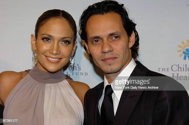 Jennifer Lopez and Marc Anthony at the Children's Health Fund's 20th Anniversary held at the Hilton hotel