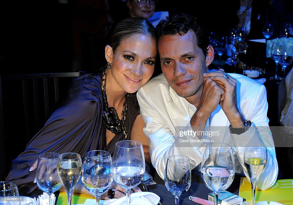 Jennifer Lopez and Marc Anthony attend the NEON Charity Gala in aid of the IRIS Foundation at the Capital City on May 24, 2010 in Moscow, Russia.