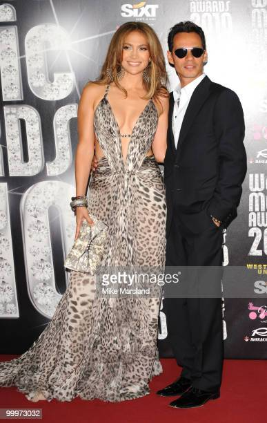 Jennifer Lopez and Marc Anthony attend the World Music Awards 2010 at the Sporting Club on May 18, 2010 in Monte Carlo, Monaco.
