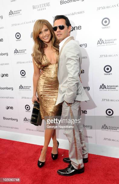 Jennifer Lopez and Marc Anthony attends the 2010 Apollo Theater Spring Benefit Concert Awards Ceremony at The Apollo Theater on June 14 2010 in New...