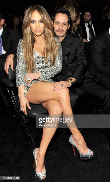 Jennifer Lopez and Marc Anthony attends The 53rd Annual GRAMMY Awards held at Staples Center on February 13, 2011 in Los Angeles, California.