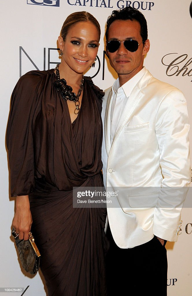 Jennifer Lopez and Marc Anthony attends the NEON Charity Gala in aid of the IRIS Foundation at the Capital City on May 24, 2010 in Moscow, Russia.